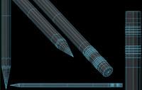 3d model of faber pencil