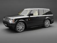 range rover sport 3d model