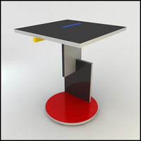 3dsmax gerrit rietveld schroeder table