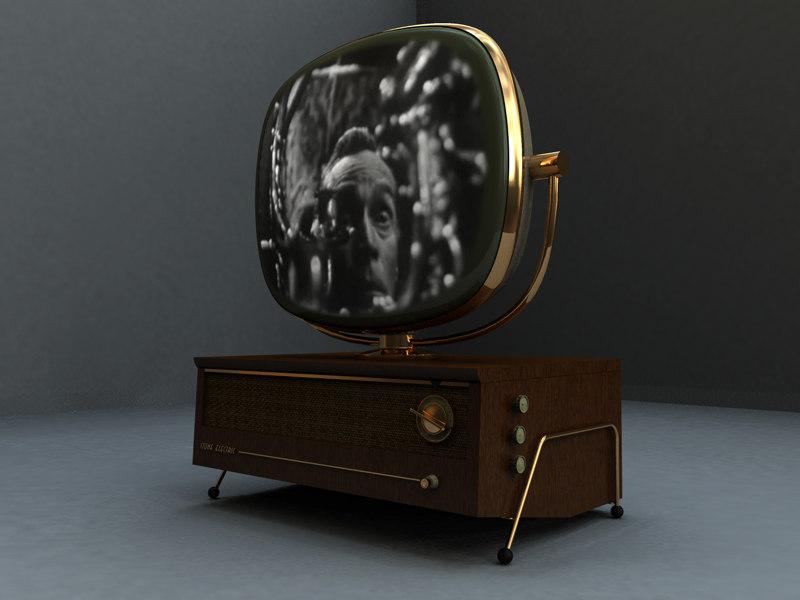 art deco 1950 s 3d model. Black Bedroom Furniture Sets. Home Design Ideas