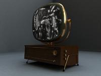 art deco 1950 s 3d model
