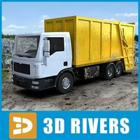 Yellow rear loader by 3DRivers