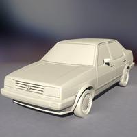 jetta ii 3d model