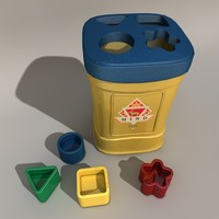 3d toybox cubes model