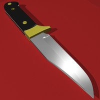 combat knife 3d max