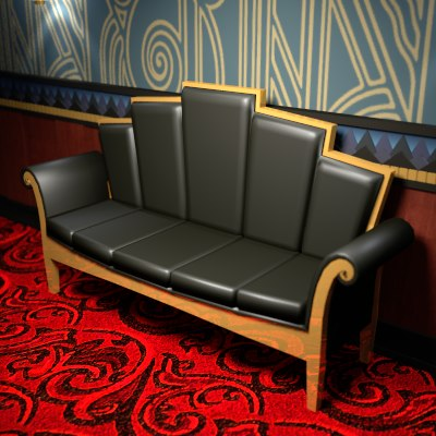 Art Deco Furniture Bar 3d Model