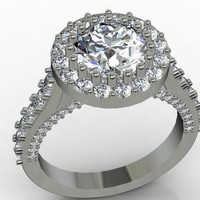 diamond engagement ring 3d model