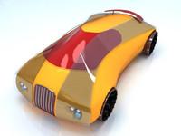 concept car futuristic 3d model
