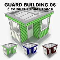 3d guard building 06 model
