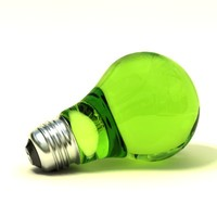 Green Vray Lightbulb