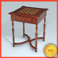 Fine Wooden Chess Table