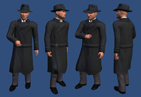 character trenchcoat 3d model