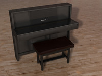 roland piano chair 3d model