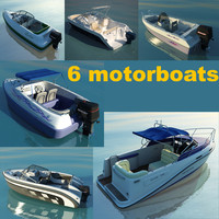 6 motorboats collection