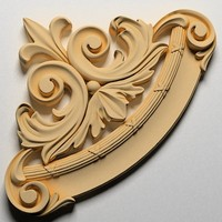 corner decor ornamental wall 3d fbx