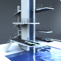 olympic diving board 3d max