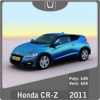 2011 honda cr-z 3d model