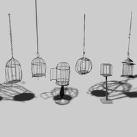 bird cages 3d 3ds