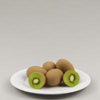 3d kiwi fruits max8 model