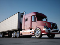 Volvo truck and trailer