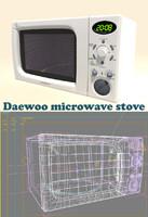 daewoo microwave 3d model