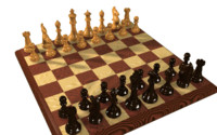 wooden chess set 3d ma