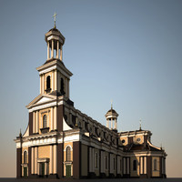 church cathedral 3d model
