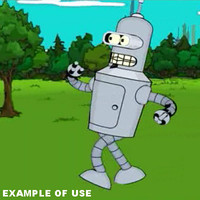 rigged bender cartoon futurama 3d model