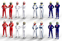 Package 12 Drivers (12 helmets + 5 combinations)