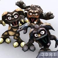 gremlins characters 0 3d model