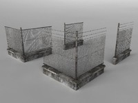 3d model of fence set