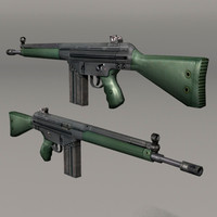 3d model g3 weapon rifle