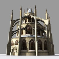 Medieval Gothic Two Tiered Chapter House