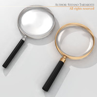 3d magnifying glass model