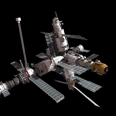 large space station mir diagram - photo #40