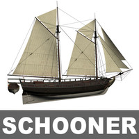 schooner great lakes 3d model