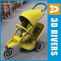 Double sport baby stroller by 3Drivers