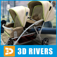 Double Tandem Strollers by 3DRivers