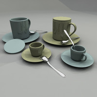 3d coffee tea cup model