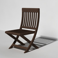 3d model outdoor teak chair