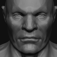 male head zbrush 3ds