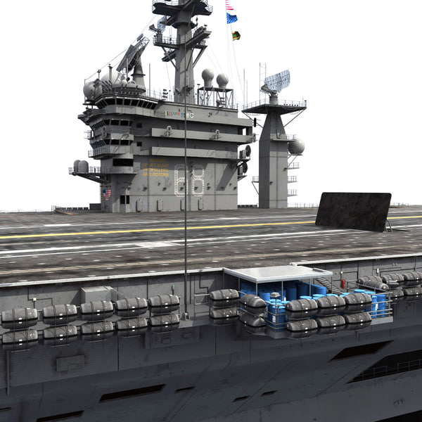 3d model of USS CVN-68 Nimitz aircraft carrier