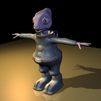 alien animation 3d model