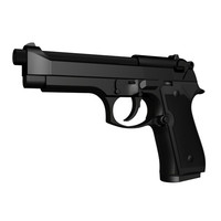 accurate beretta m9 handgun 3d ige