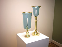 3d brass candle lamps