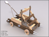 Catapult, 10 Textures, Low Poly