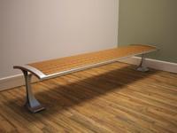 public seat 3d model