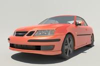 3d model saab 9-3 aero convertible