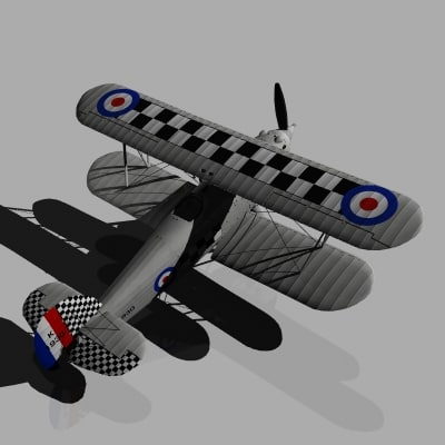 hawker fury 3d model - Hawker Fury... by Interloper9