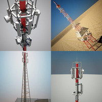 3d cell towers model